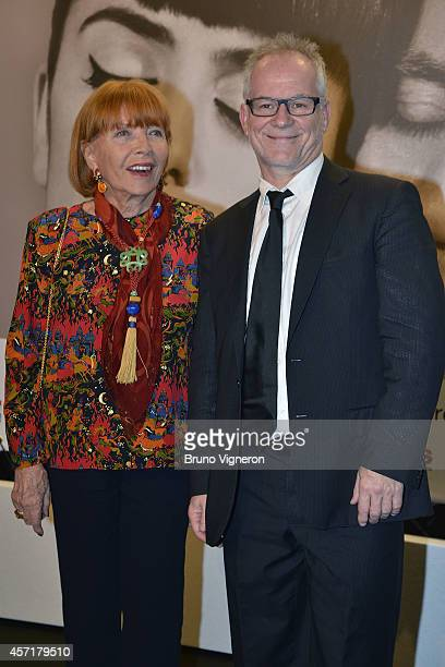Stephane Audran and Thierry Fremont attend the Tribute To Faye Dunaway at the Opening Ceremony of the 6th Lyon Festival on October 13 2014 in Lyon...