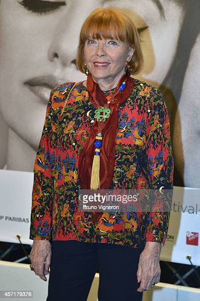 Stephane Audran attends the Tribute To Faye Dunaway at the Opening Ceremony of the 6th Lyon Festival on October 13 2014 in Lyon France
