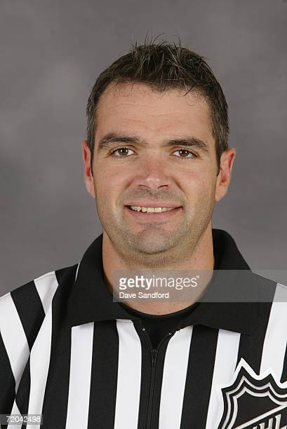 Stephane Auger poses for a portrait during the NHL Officials Camp in Fort Erie Ontario Canada on September 9 2006