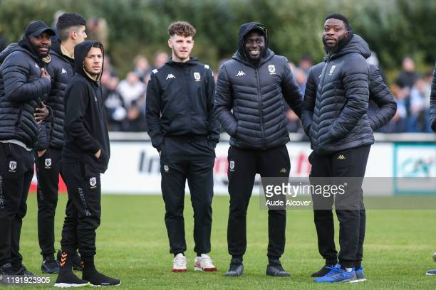 Stephane BAHOKEN Farid EL MELALI Anthony GOMEZ MANCINI Sada THIOUB and Ismael TRAORE of Angers during the French cup match between Dieppe and Angers...