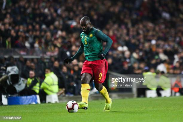 Stephane Bahoken of Cameroon during the International Friendly match between Brazil and Cameroon on November 20 2018 in London United Kingdom