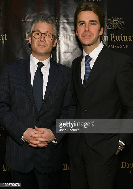 Stephane Baschiera and Jeanchristophe Lazeau during Launch Party For Dom Ruinart 1996 at Private Estate in Bel Air California United States