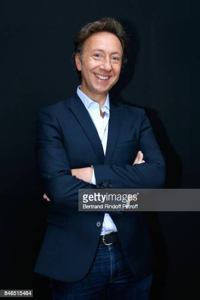 Stephane Bern 'A la bonne heure' on RTL attends the RTL RTL2 Fun Radio Press Conference to announce their TV Schedule for 2017/2018 at Elysee...