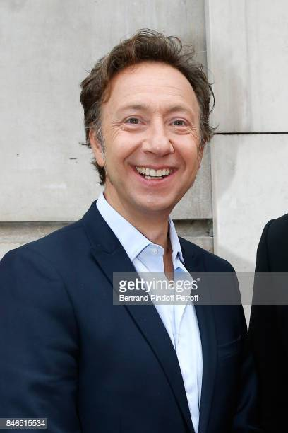 """Stephane Bern, """"A la bonne heure"""" on RTL, attends the RTL - RTL2 - Fun Radio Press Conference to announce their TV Schedule for 2017/2018 at Elysee..."""
