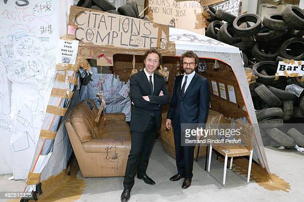 Stephane Bern and Architect Cyril Vergniol attend the Friend's of Palais De Tokyo's Dinner Held at Palais De Tokyo on May 20 2014 in Paris France