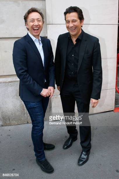 Stephane Bern and Laurent Gerra attend the RTL RTL2 Fun Radio Press Conference to announce their TV Schedule for 2017/2018 at Elysee Biarritz at...