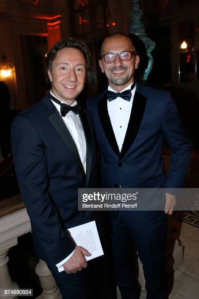 Stephane Bern and Lionel Bounoua attends the GQ Men of the Year Awards 2017 at Le Trianon on November 15 2017 in Paris France