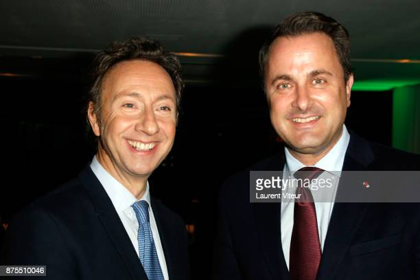 Stephane Bern and Prime Minister of Luxembourg Xavier Bettel attend 22nd Edition of 'Les Sapins de Noel des Createurs' at Theatre des Champs Elysees...