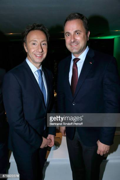 Stephane Bern and Prime Minister of Luxembourg Xavier Bettel attend the 22th Edition of ''Les Sapins de Noel des Createurs Designer's Christmas...