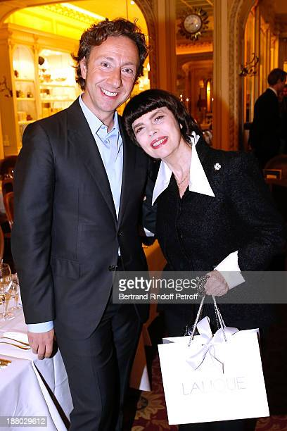 Stephane Bern and singer Mireille Mathieu attend the 50th Anniversary party of Stephane Bern called Half a century it's party celebrated at Angelina...