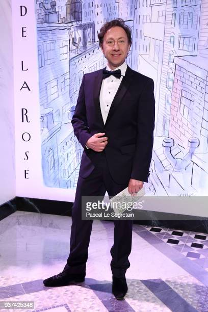 Stephane Bern arrives at the Rose Ball 2018 To Benefit The Princess Grace Foundation at Sporting MonteCarlo on March 24 2018 in MonteCarlo Monaco