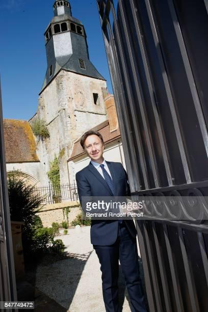 stephane Bern attends Members of the Stephane Bern's Foundation for 'L'Histoire et le Patrimoine' visit the 'College Royal et Militaire' de...