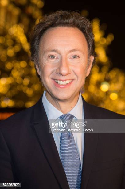 Stephane Bern attends Stephane Bern and 'Comite Montaigne' Launches Christmas Lights at Montaigne Avenue in Paris on November 17 2017 in Paris France