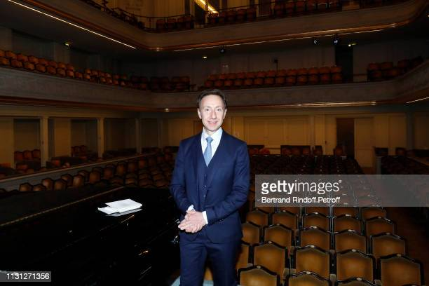 Stephane Bern attends the Fondation Prince Albert II De Monaco Evening at Salle Gaveau on February 21 2019 in Paris France