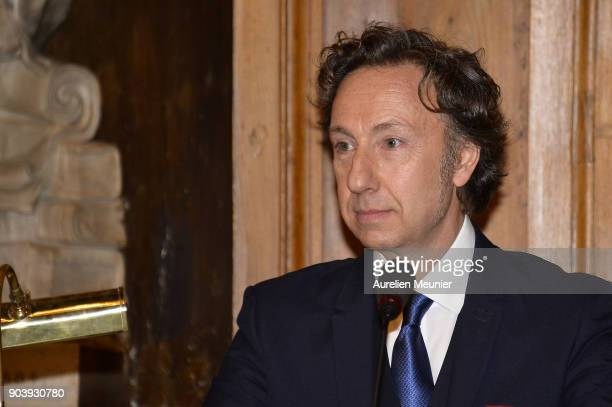 Stephane Bern attends the Prix Histoire et Prix Patrimoine 2017 de La Fondation Stephane Bern at Institut de France on January 11 2018 in Paris France