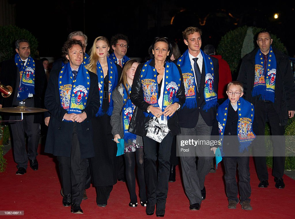 Stephane Bern, Beatrice Borromeo, Princess Alexandra of Hanover, Princess Stephanie of Monaco and Pierre Casiraghi attend the 35th Monte-Carlo International Circus Festival on January 22, 2011 in Monte-Carlo, Monaco.