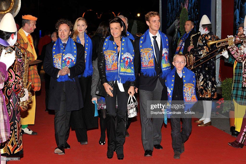 Stephane Bern, Beatrice Borromeo, Princess Stephanie of Monaco and Pierre Casiraghi attend the 35th International Circus Festival 2011, in Monaco.