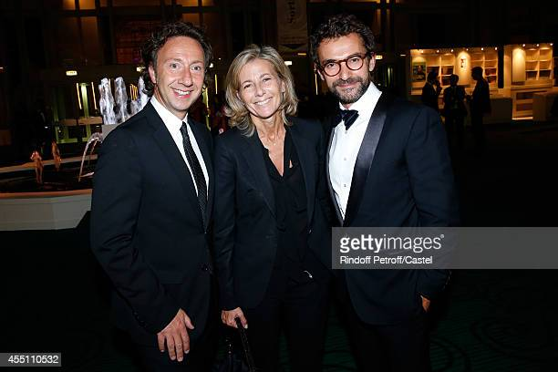 Stephane Bern Claire Chazal and Cyril Vergniol attend the 27th 'Biennale des Antiquaires' Pre Opening at Le Grand Palais on September 9 2014 in Paris...