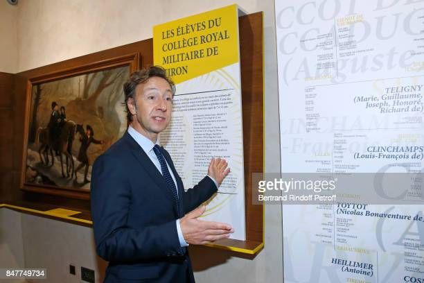 stephane Bern comments the visit of the 'College Royal et Militaire' de ThironGardais by members of the Stephane Bern's Foundation for 'L'Histoire et...