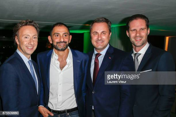 Stephane Bern Francis Kurkdjian Prime Minister of Luxembourg Xavier Bettel and Gauthier Destenay attend 22nd Edition of 'Les Sapins de Noel des...