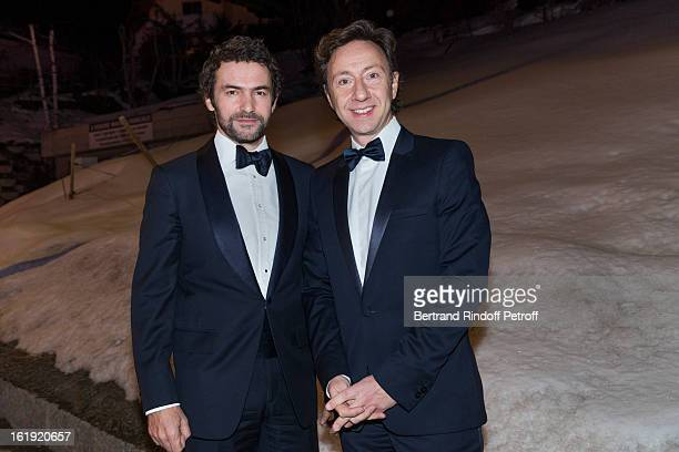Stephane Bern French journalist and author and Cyril Vergniol architect attend the 30th edition of 'La Nuit Des Neiges' Charity Gala on February 16...