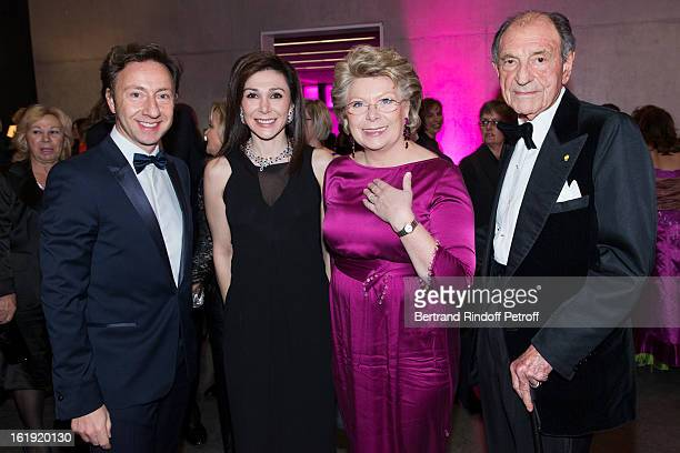 Stephane Bern French journalist and author Linda Barras President of the event Viviane Reding VicePresident of the European Commission and Zahedi...