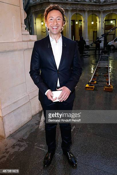 Stephane Bern presents the 'Comme s'il en pleuvait' Theater Play for TV at Theatre Edouard VII on April 29 2014 in Paris France