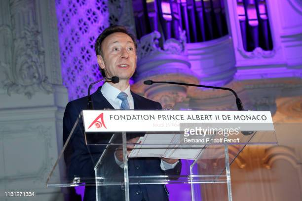 Stephane Bern presents the Fondation Prince Albert II De Monaco Evening at Salle Gaveau on February 21 2019 in Paris France