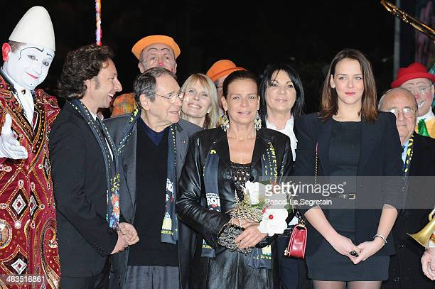Stephane Bern Robert Hossein Princess Stephanie of Monaco and Pauline Ducruet attend the 38th International Circus Festival on January 18 2014 in...