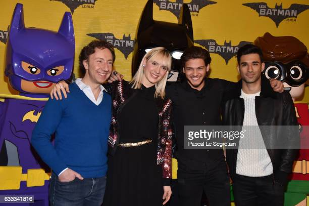 Stephane BernNatooRayane Bensetti and War Tek attend 'Lego Batman' Premiere at Le Grand Rex on February 1 2017 in Paris France