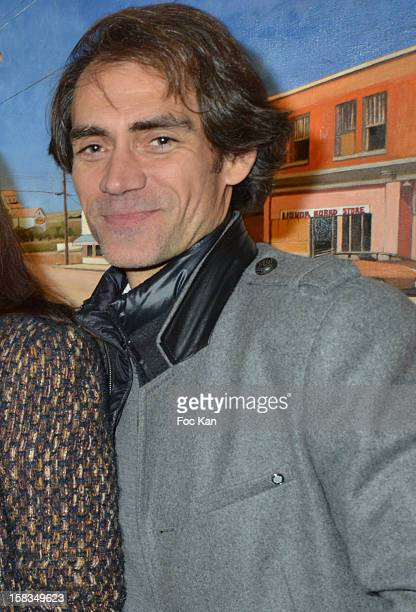 Stephane Boutet attends the 'Amerique Instantanes' Laurent Hubert Painting Exhibition Preview at Galerie Myriane on December 13 2012 in Paris France