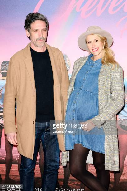 Stephane Coulon and Anne Sophie Girard attend The Les Crevettes Paillettees Premiere At Cinema Le Grand Rex on April 16 2019 in Paris France