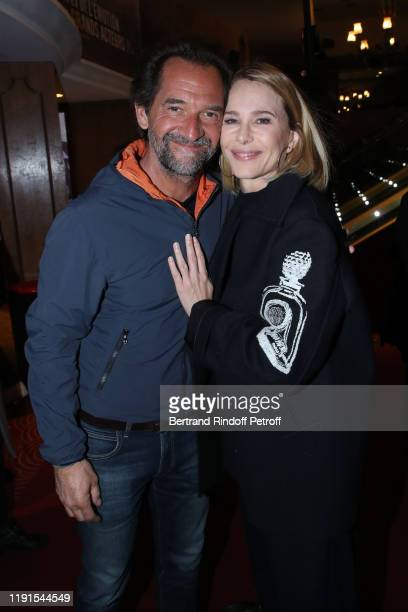 Stephane de Groodt and Pascale Arbillot attend the Le Meilleur reste a venir Premiere at Le Grand Rex on December 02 2019 in Paris France