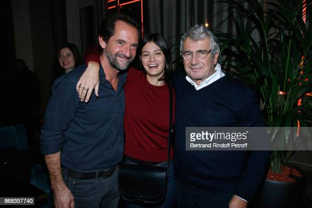 Stephane de Groodt guest and Michel Boujenah attend Claude Lelouch celebrates his 80th Birthday at Restaurant Victoria on October 30 2017 in Paris...