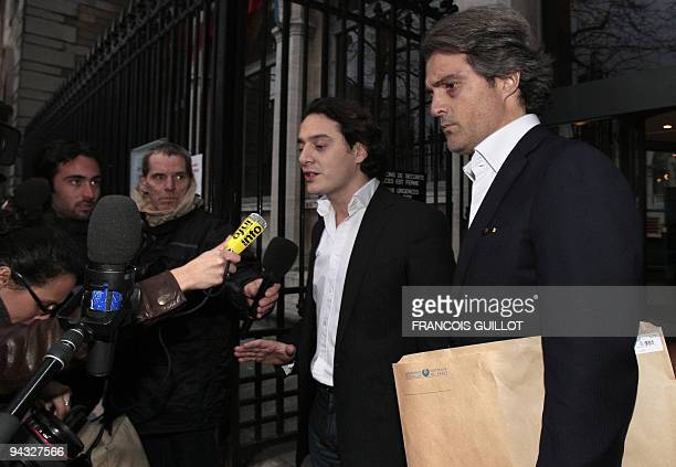 Stephane Delajoux the French surgeon at the center of allegations of performing a botched operation on rock legend Johnny Hallyday, leaves the Hotel...