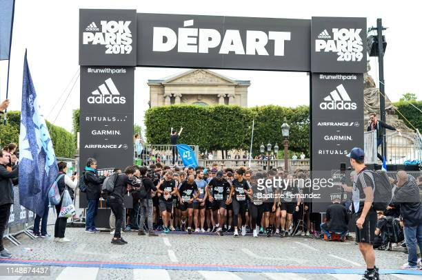 Stephane Diagana, Melvyn Richardson, Martin Fourcade, Coralie Balmy and Gevrise Emane are going to start the 10km Adidas on June 9, 2019 in Paris,...