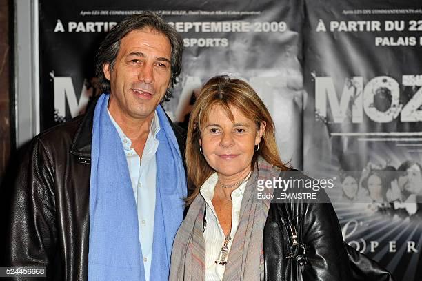 Stephane Ferrara and Dominique Cantien attend the premiere of Mozart l'Opera Rock in Paris