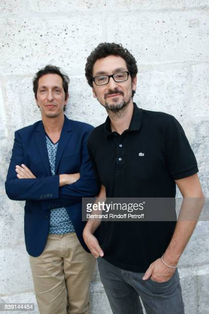 Stephane Foenkinos and his brother writer David Foenkinos attend the 10th Angouleme FrenchSpeaking Film Festival Day Four on August 25 2017 in...