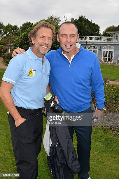 Stephane Freiss and Alain Boghossian attend the 'Tee Break Gourmand' Auction Golf Competition hosted by Matrix to benefit SOS Gazelles at the Golf d'...