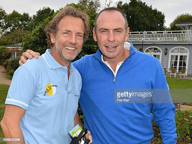 Stephane Freiss and Alain Boghossian attend the'Tee Break Gourmand' Auction Golf Competition hosted by Matrix ito benefit SOS Gazelles at the Golf d'...