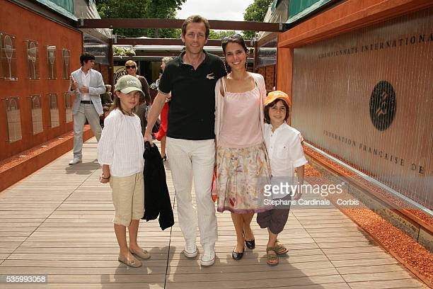 Stephane Freiss his wife and their children Camille and Ruben