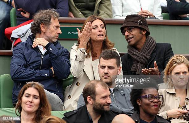 Stephane Freiss Manu Katche and his wife Laurence Katche attend day 11 of the 2016 French Open held at RolandGarros stadium on June 1 2016 in Paris...