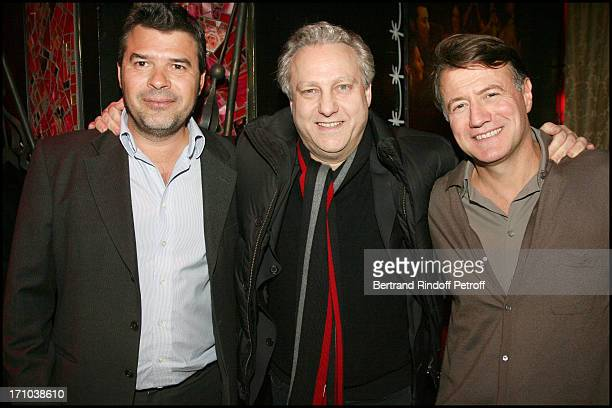 Stephane Gateau Yves Bigot Jerome Revon at The Paris Premiere Of The Film Chico Un Gipsy Ordinaire At The Paris Bodega