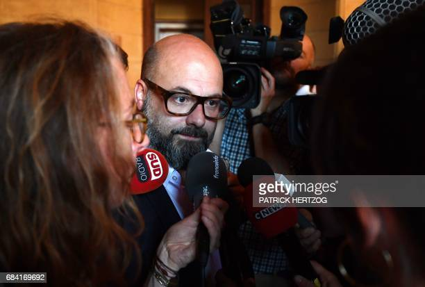 Stephane Giuranna the lawyer representing Francis Heaulme speaks to journalists as he leaves the court during the trial of his client who is already...