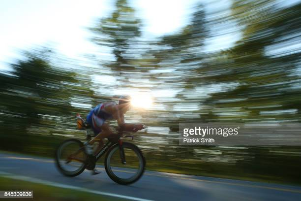 Stephane Gomez of France competes in the IRONMAN 703 Men's World Championship on September 10 2017 in Chattanooga Tennessee