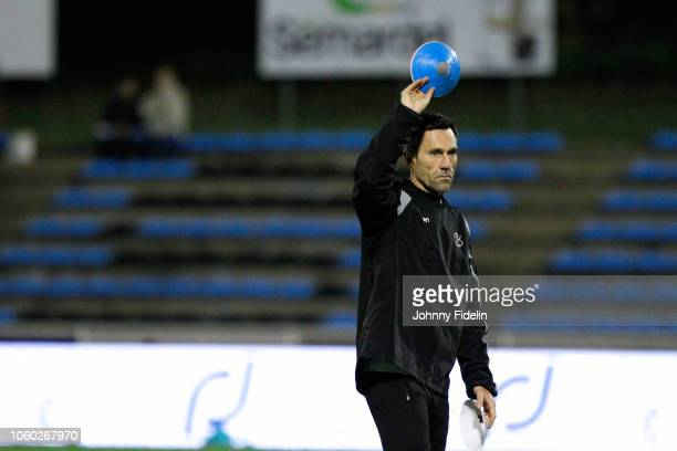 Stephane Gonin back coach of Massy before the Pro D2 match between Massy and Oyonnax on November 9 2018 in Massy France