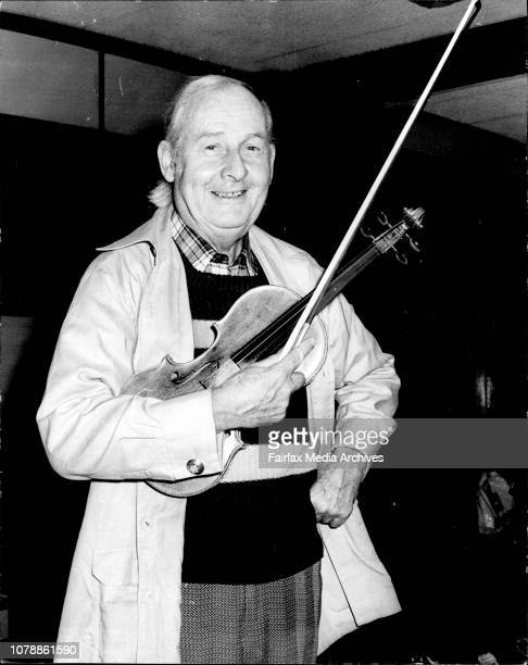 Stephane Grappelli at Sydney airport yesterday. Stephane Grappelli, known as the worlds greatest jazz violinist pictured Mascot airport today on his...