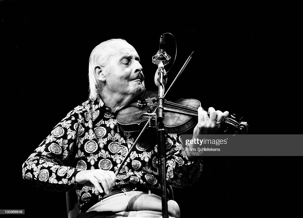 Stephane Grappelli performs live on stage at the North Sea Jazz Festival in The Hague, Holland on July 12 1984