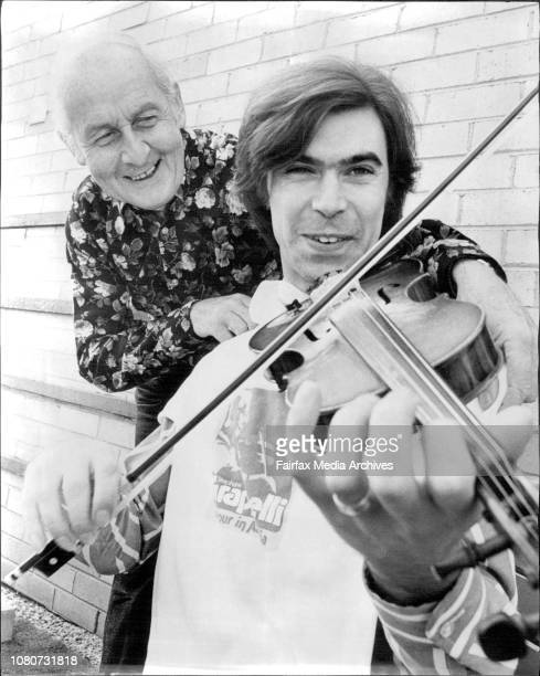 Stephane Grappelli with Peter Knight of the group Steeleye SpanStephane Grappelli the 67yearold jazz violinist and the pop group Steeleye Span are...