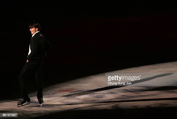 Stephane Lambiel of Swiss performs during Festa on Ice 2009 at KINTEX on April 24 2009 in Goyang South Korea